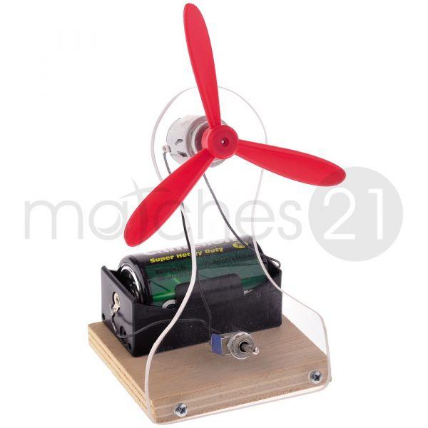 Tisch-Ventilator Tischlüfter 2 Stufen Kinder Bausatz Werkset Bastelset ab 12 J.