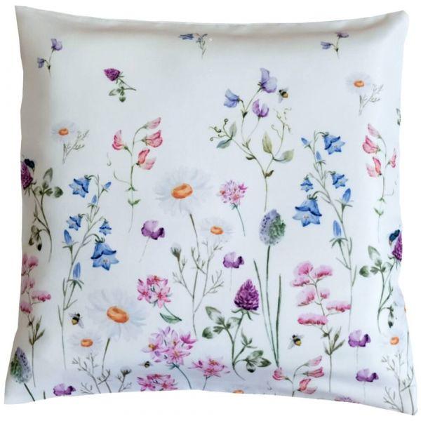 Kissenbezug Kissenhülle Heimtextilien Wiesenblumen Blumen Blüten bunt 40x40 cm