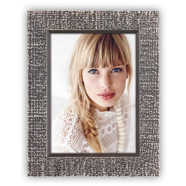 Bilderrahmen Fotorahmen Wechselrahmen Holz schwarz Vintage Shabby Foto 10x15 cm