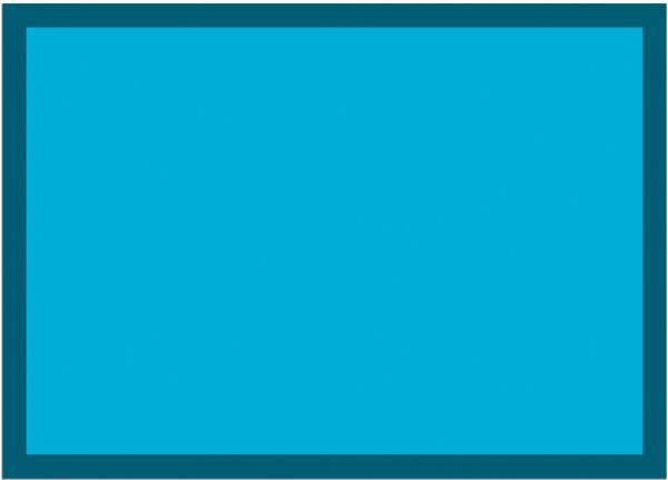 Fußmatte Fußabstreifer UNI einfarbig rutschfest waschbar 50x70 cm Farbe türkis