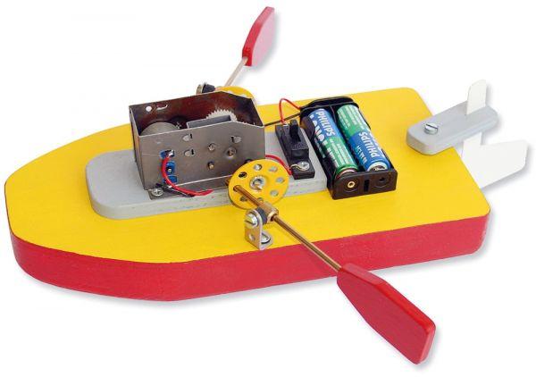 Ruderboot mit Elektroantrieb Bausatz Kinder Werkset Bastelset - ab 11 Jahren