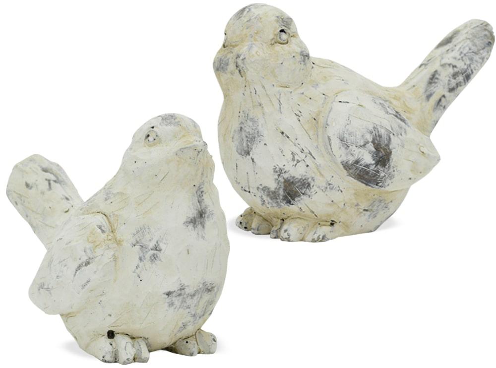 Huhn Dekofigur Metall Deko Landhausstil weiß Punkte grün 1 Stk 16x14 cm Henne