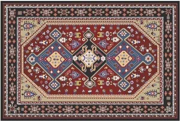 Fußmatte Fußabstreifer DECOR Perser Ornamente rot blau beige waschbar 40x60 cm
