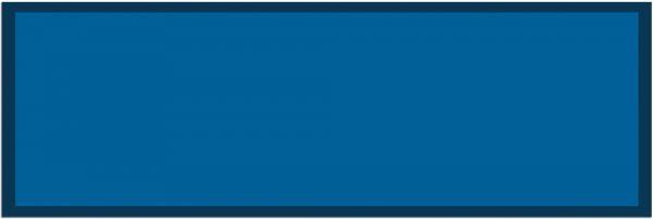 Fußmatte Teppichläufer UNI einfarbig rutschfest waschbar 50x150 cm Farbe blau