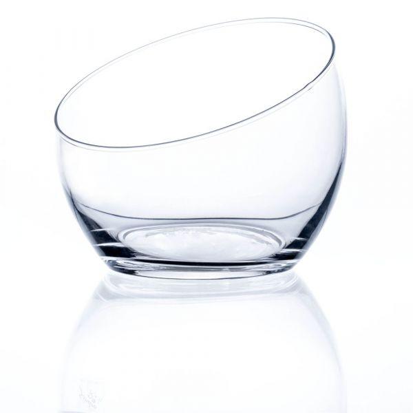 Glasschale Dekoschale Schale Tischdeko Glas oval geschnitten 1 Stk - Ø 18,5 cm