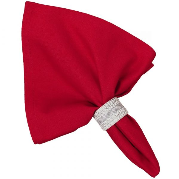 Stoffserviette Serviette Landhaus Premium MARIE rot uni einfarbig 45x45 cm