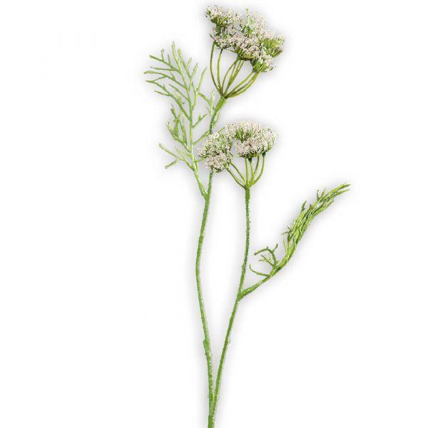 Dill Dillkraut Kunstpflanze Kunstblume künstliche Pflanze Ø 6x56 cm cremefarben