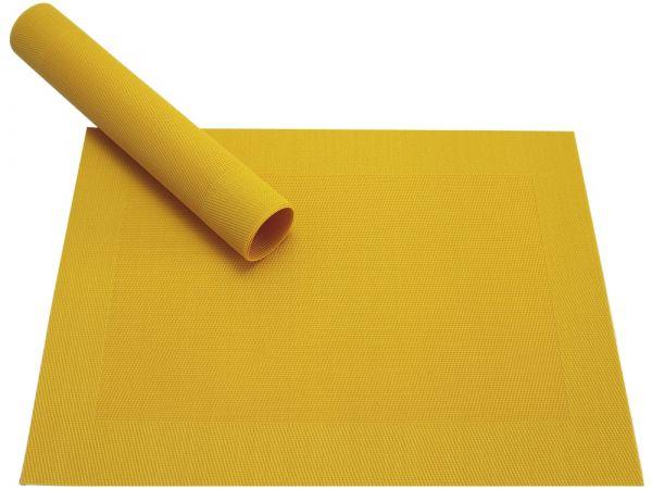 Tischset Platzset BORDA gelb 1 Stk. Kunststoff gewebt abwaschbar