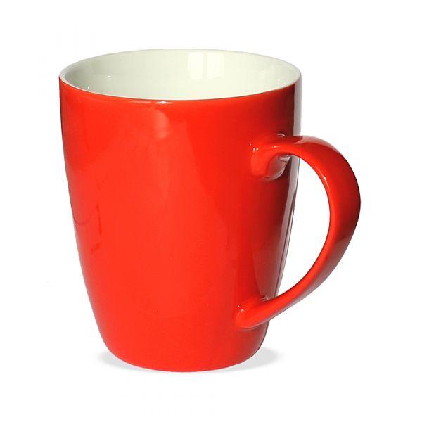 Tasse Becher Kaffeebecher rot 1 Stk 10cm 350ml Porzellan B-WARE