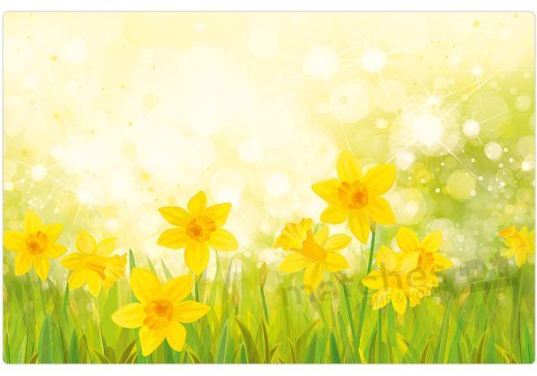 Tischset Platzset MOTIV Frühling Blumen gelbe Osterglocken 1 Stk. abwaschbar