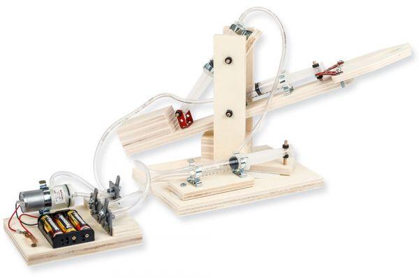 Roboter Arm Bausatz Hydraulik / Luftdruck mit E-Kompressor Bastelset ab 12 Jahre