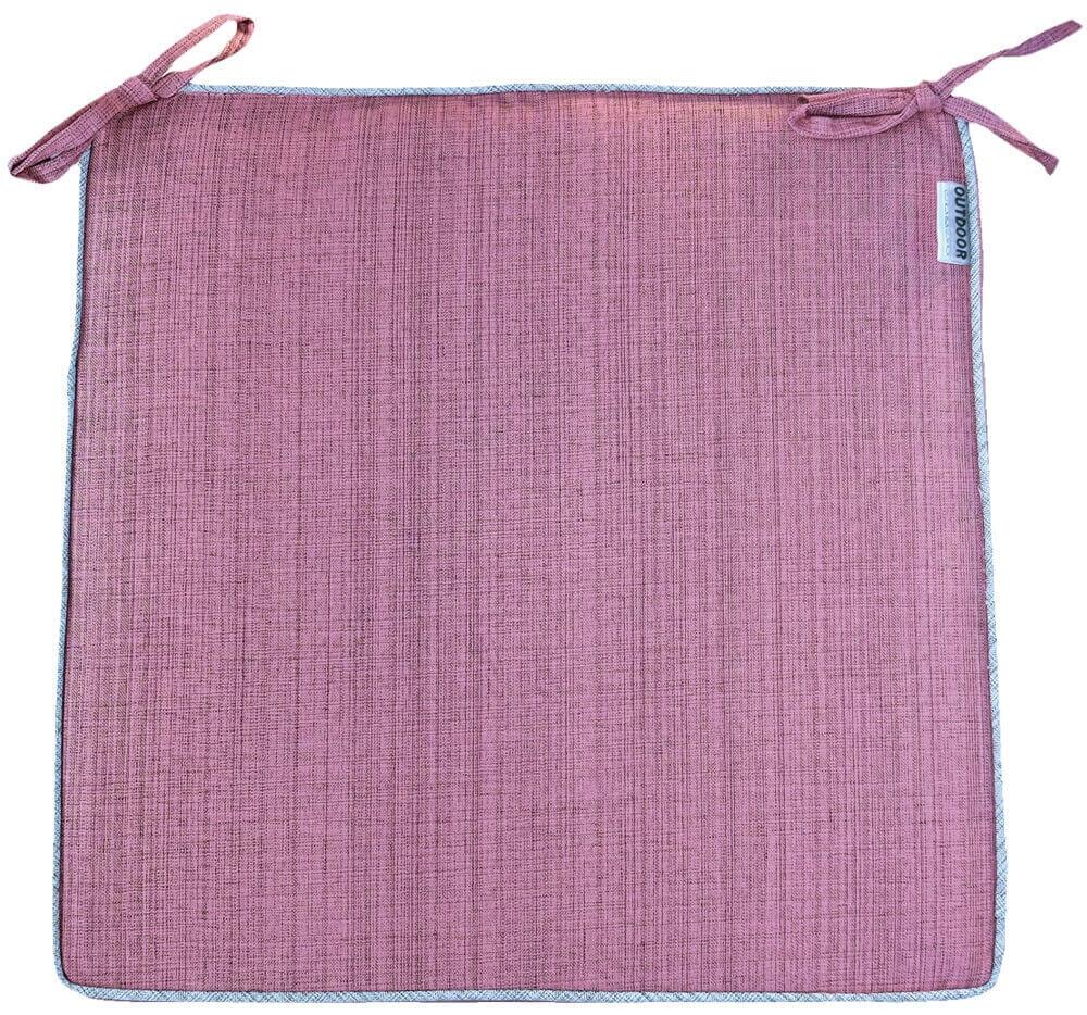 Gartenstuhlkissen Sitzkissen 4er Set Pink 40x40 Sesselkissen Indoor Outdoor Deko