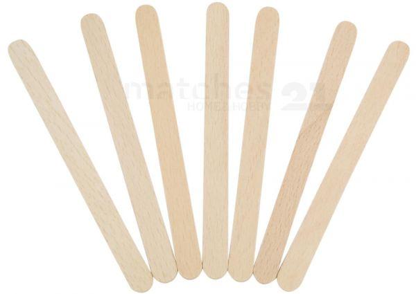 Holzstäbchen Holzspatel Bastelholz Holz Eisstiele zum Basteln 100 Stk 150x18 mm