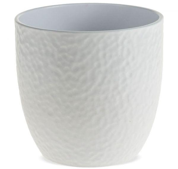 Pflanztöpfe Keramik Blumentöpfe Hammerschlagoptik 1 Stk Ø 16x15 cm – 3 Farben