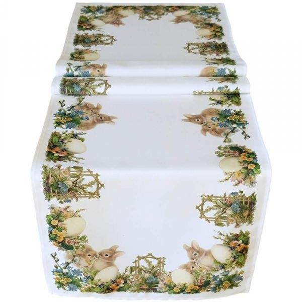 Tischläufer Tischdecke Tischwäsche Ostern nostalgisch 40x140 cm