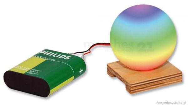 LED Farbwechsel Lichtkugel Kunststoff & Holz Bausatz Kinder Werkset ab 12 Jahren