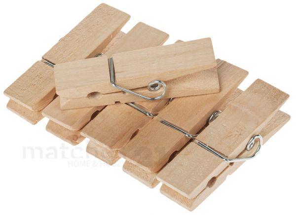 Holz Wäscheklammern 6 Stk Je 70x17 mm für Geschenkverpackungen Adventskalender