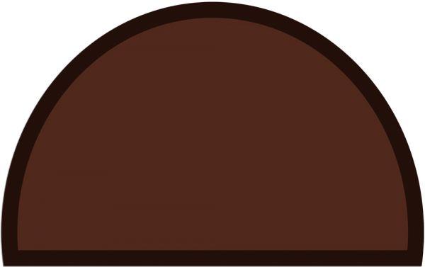 Fußmatte Fußabstreifer UNI einfarbig rutschfest 50x80 cm halbrund Farbe braun