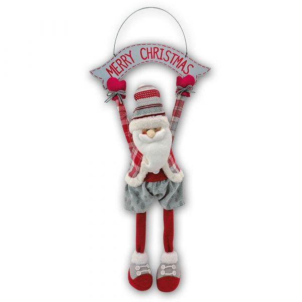 Weihnachtsmann Dekohänger Hängedeko Weihnachten Merry Christmas 1 Stk 33x62 cm