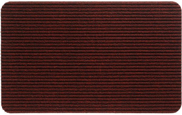 Fußmatte RIPS UNI Ripsmatte Türmatte Indoor rutschfest 40x60 cm - Rot