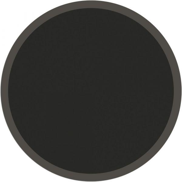 Fußmatte Türmatte Teppich UNI einfarbig rutschfest Ø 95 cm rund Farbe schwarz