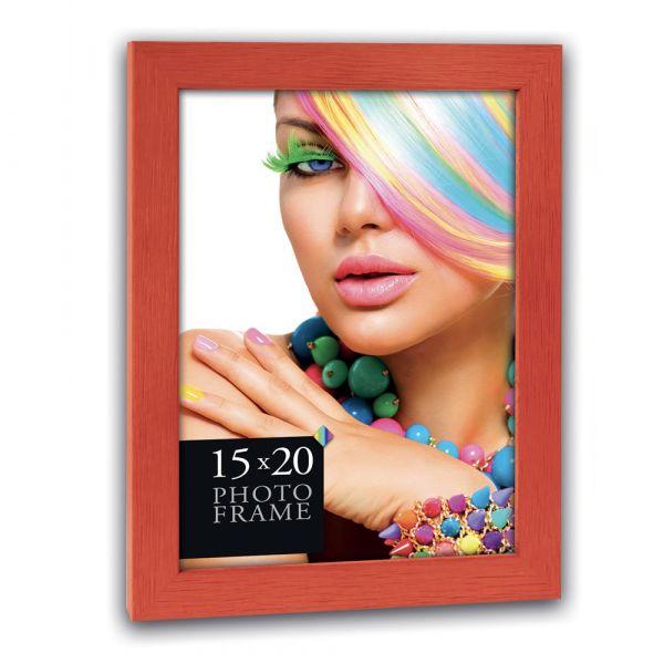 Bilderrahmen Holzrahmen Wechselrahmen Porträtrahmen Rahmen Holz rot - 10x15 cm