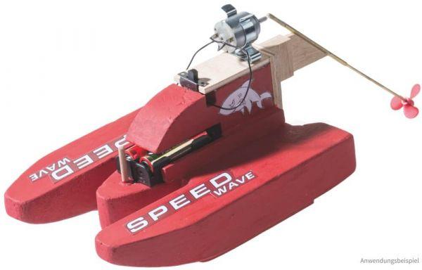 Motorboot Speedboot Rennboot Elektro-Bausatz Bastelset für Kinder ab 10 Jahre