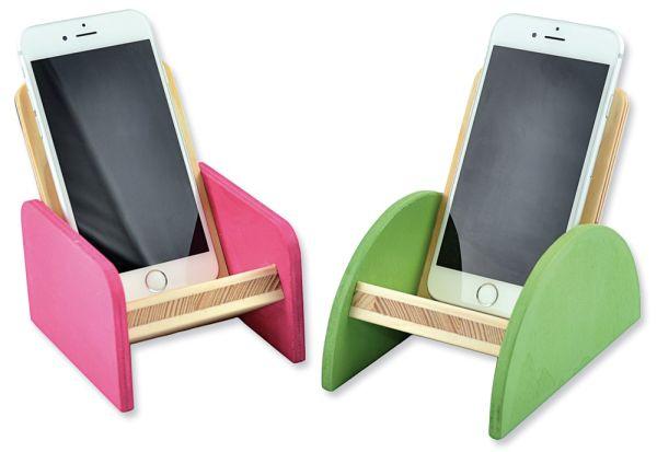 Handyablagen Halterungen für Handys Holz Bausatz Bastelset für Kinder ab 9 Jahren