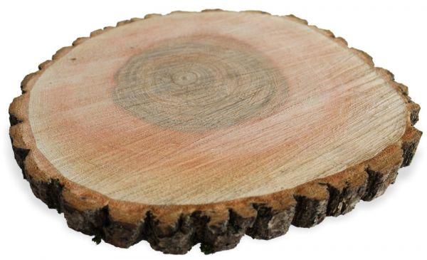 Holzscheibe Esche Echtholz Scheibe Holz Baumscheibe DIY - 1 Stk Ø 30-35 cm