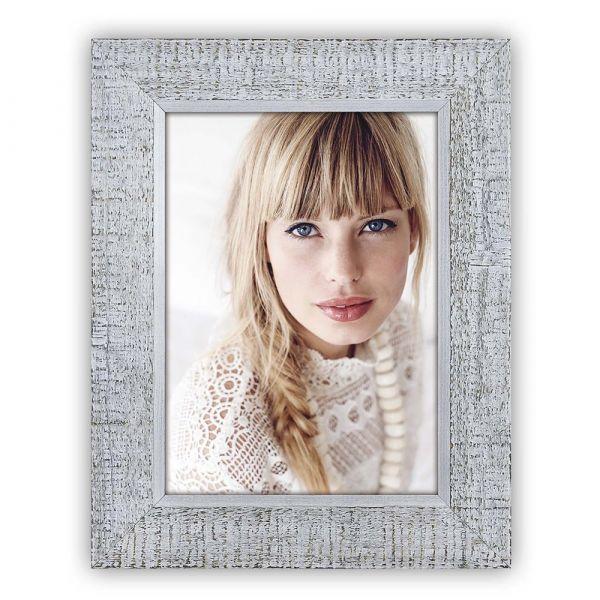 Bilderrahmen Fotorahmen Wechselrahmen Holz grau Vintage Shabby Foto 10x15 cm