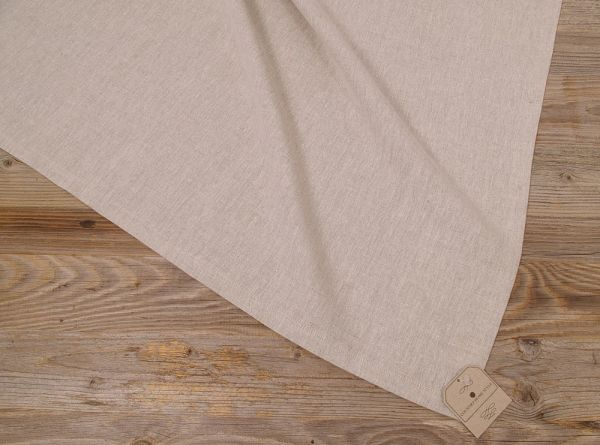 Mitteldecke Tischdecke VIOLA unifarben beige 100x100 cm Landhaus Baumwolle 1 Stk