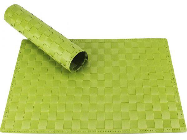 Tischset Platzset MODERN grün hellgrün geflochten Kunststoff 1 Stk. 45x30 cm