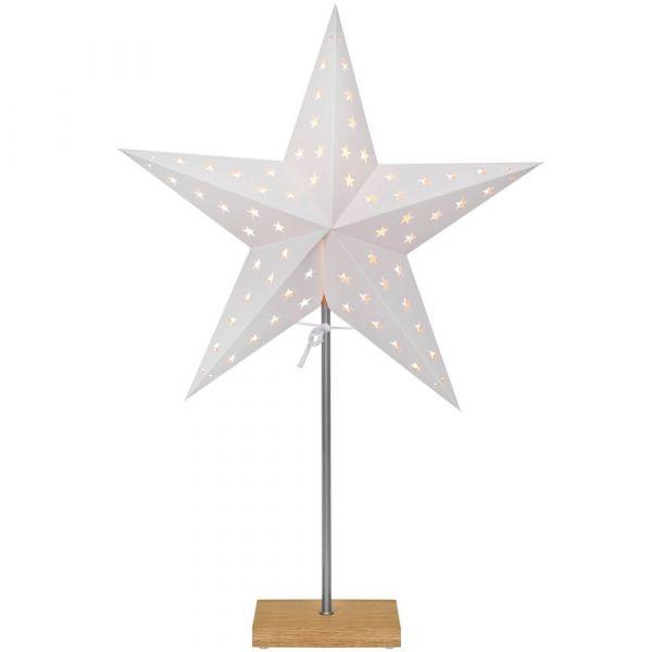 2-in-1 Tischlampe Schirm & Papierstern gestanzt Weihnachten Kombipack wechselbar