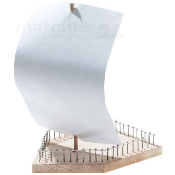 Einfaches Segelboot Holz Boot als Kinder Bausatz Werkset Bastelset ab 7 Jahren