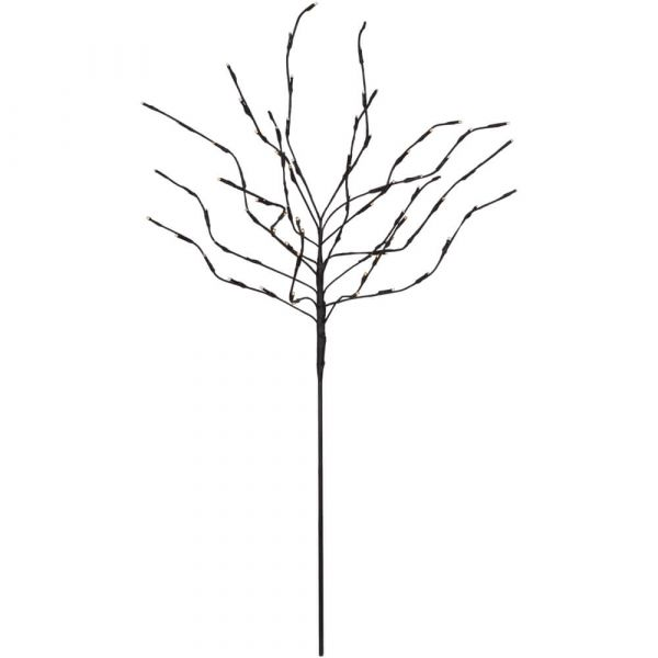 LED Baum beleuchtete Gartendeko Stecker schwarz / warmweiß 110 cm