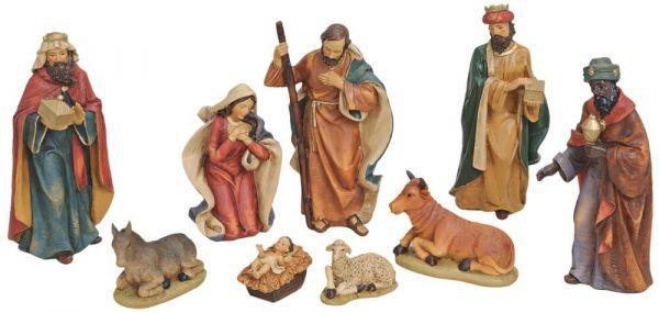 Krippenfiguren 9-tlg Weihnachtskrippen Figuren Set Jesus Josef & Maria 4-19 cm