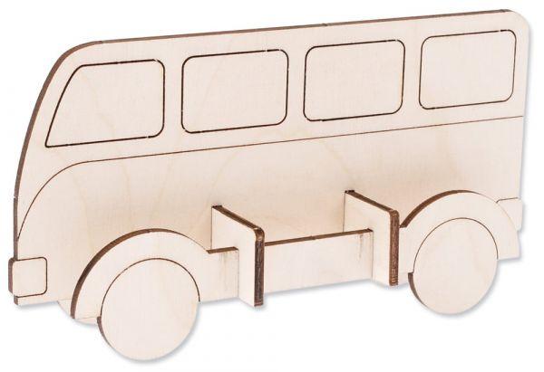 Omnibus Holz Bus Bausatz Steckbausatz Bastelset Bastelset für Kinder ab 4 Jahren