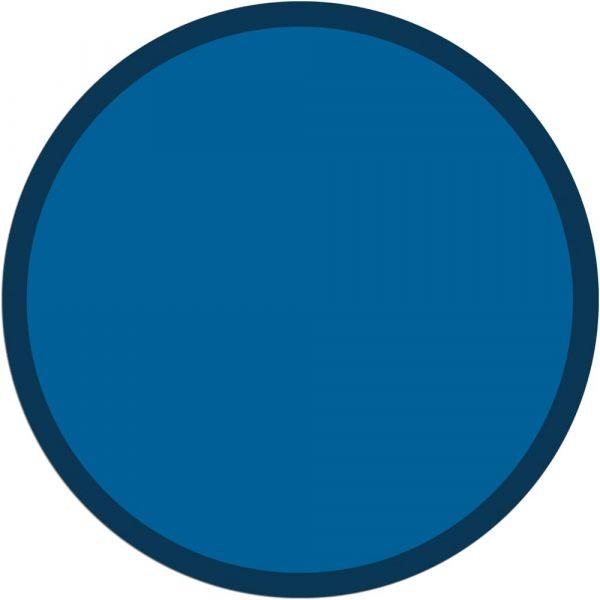 Fußmatte Türmatte Teppich UNI einfarbig rutschfest Ø 95 cm rund Farbe blau