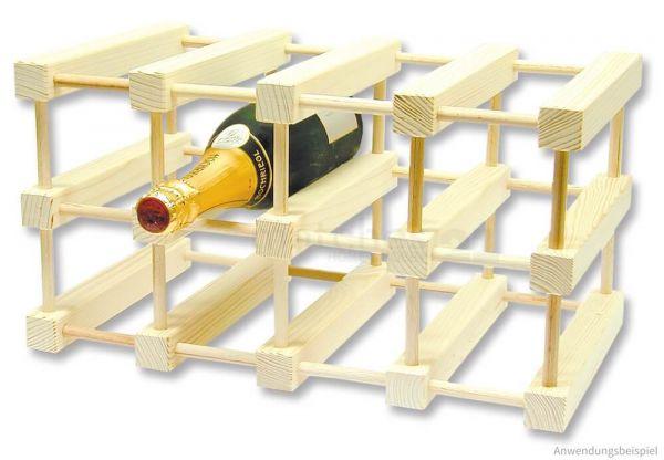 Flaschenregal Flaschenhalter Holz Bausatz Kinder Werkset - ab 12 Jahren