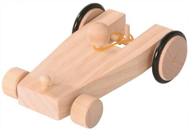 Auto Fahrzeug Gummiantrieb Holz Bausatz Bastelset vorgefertigt Kinder ab 7 Jahre