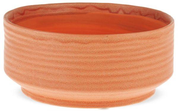 Blumenschale Pflanzschale Blumentopf Keramik terracotta matt Rillen 1 Stk 15,5 cm