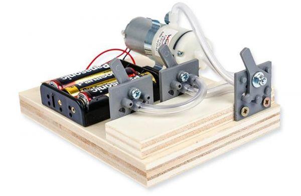 E-Pneumatik Bausatz Luftdrucktechnik Funktionsmodell Kinder Bastelset ab 12 Jahren