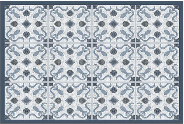 Fußmatte Fußabstreifer DECOR Marokko Fliesen Geometrisch grau waschbar 40x60 cm