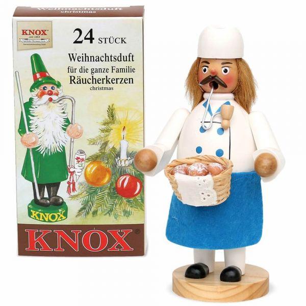 Räuchermännchen Holz 20 cm Weihnachten viele Berufe / Designs & Räucherkerzen