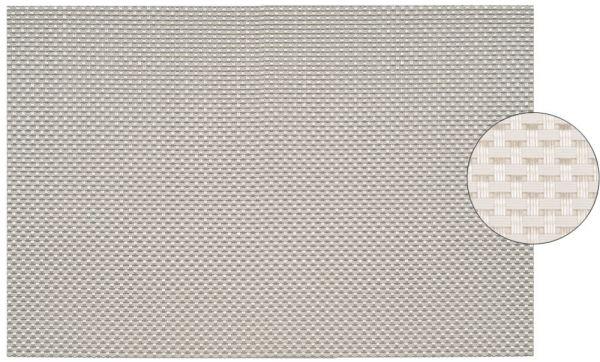 Tischset Platzset ELEGANCE weiß gewebt 1 Stk. abwaschbar 45x30 cm Kunststoff