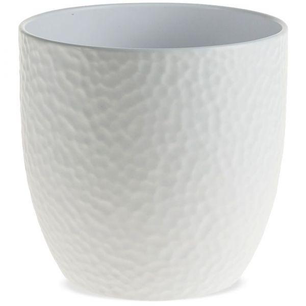 Pflanztöpfe Keramik Blumentöpfe Hammerschlagoptik 1 Stk Ø 19x18 cm – 3 Farben