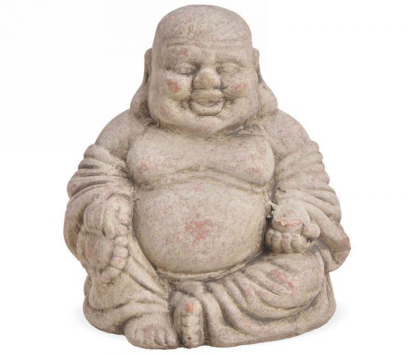 Buddha Dekofiguren sitzend Skulptur Ton Tonfiguren Gartendeko 1 Stk 2 Größen