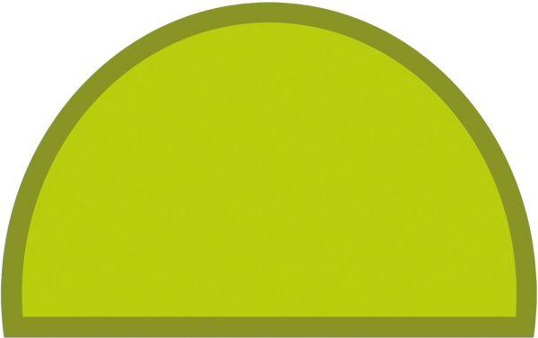 Fußmatte Fußabstreifer UNI einfarbig rutschfest 50x80 cm halbrund Farbe hellgrün