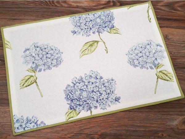 Tischset Platzset Landhaus Premium LOTTE Hortensien Blüten 33x48 cm