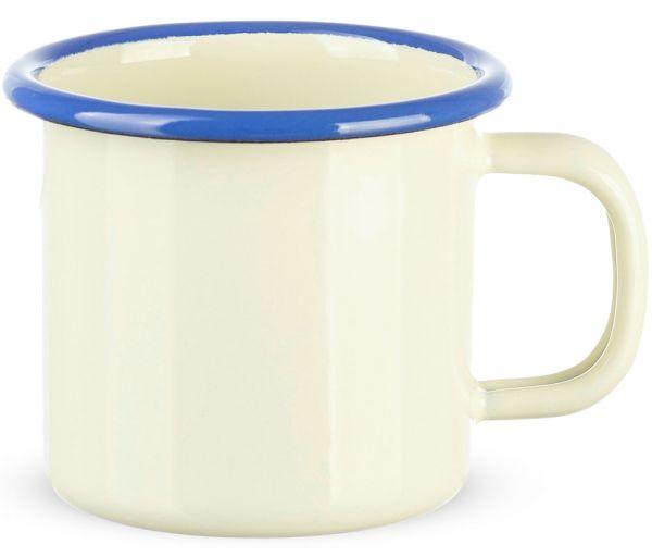 Email Becher Trinkbecher für Kinder Kindergeschirr creme 6x6 cm / 125 ml